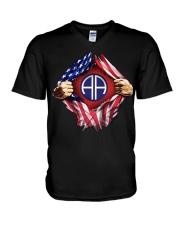 Army-Airborne V-Neck T-Shirt thumbnail