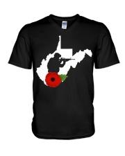 WestVirginia Veteran Day  V-Neck T-Shirt thumbnail