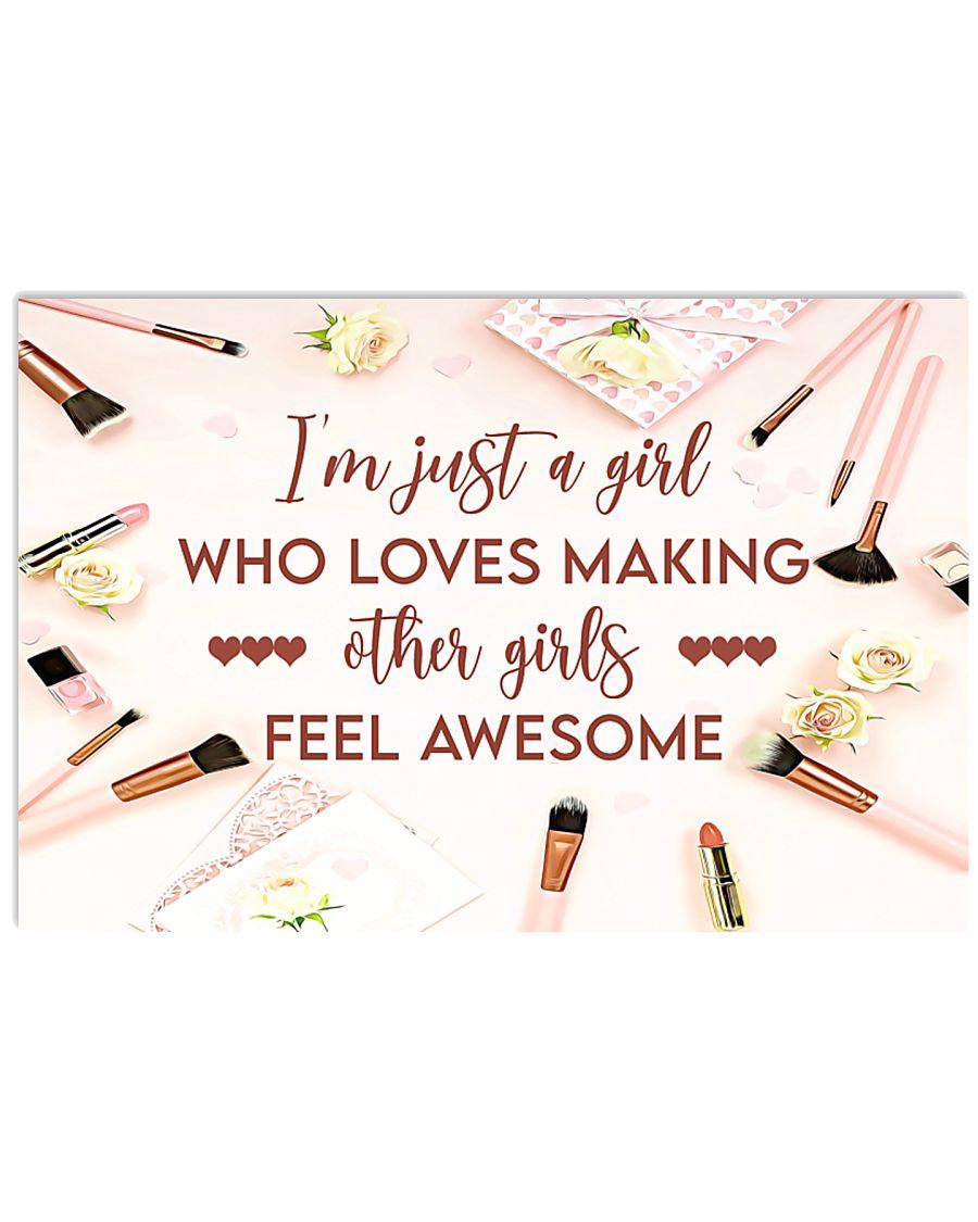 Makeup I'm just a girl  36x24 Poster