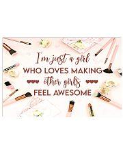 Makeup I'm just a girl  Horizontal Poster tile