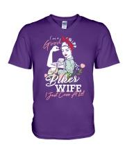 biker wife V-Neck T-Shirt thumbnail