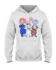 Dachshund Hooded Sweatshirt front