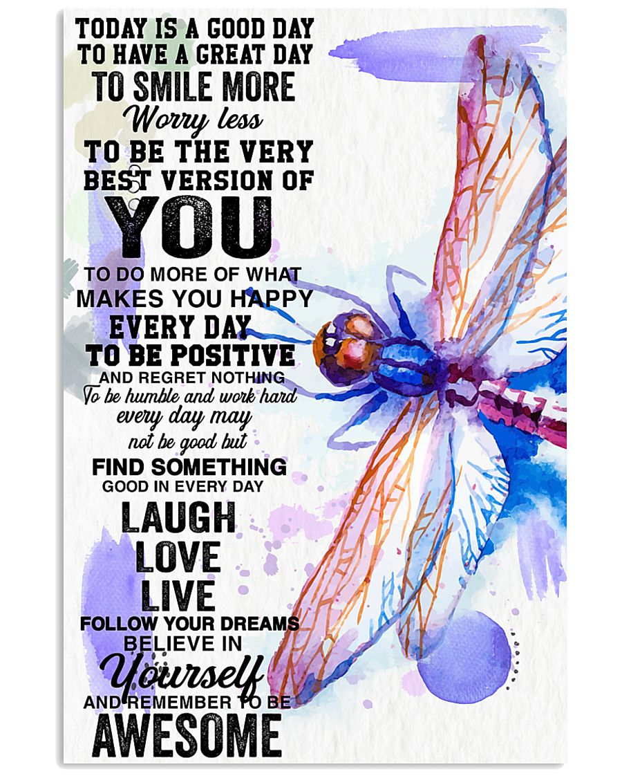 Dragonfly believe in yourself 24x36 Poster