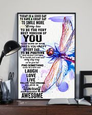 Dragonfly believe in yourself 24x36 Poster lifestyle-poster-2
