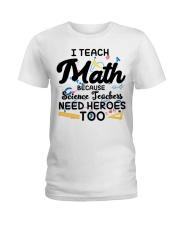 Math Teacher Ladies T-Shirt front