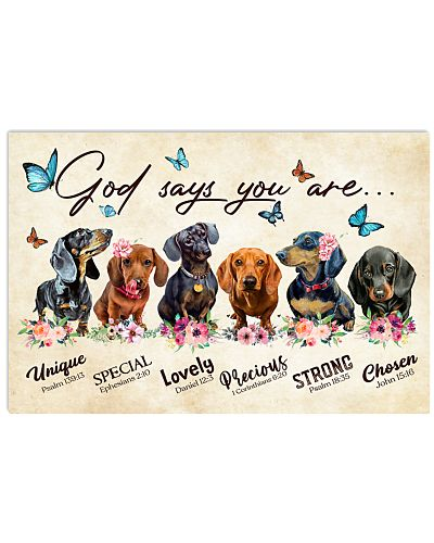 Dachshund God says you are