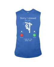 Lineman Sorry I Missed your call Sleeveless Tee thumbnail