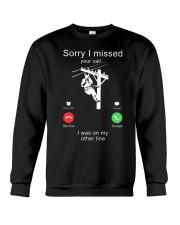 Lineman Sorry I Missed your call Crewneck Sweatshirt thumbnail