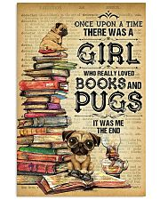 Pug And Book 11x17 Poster front