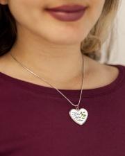 Dragonfly  Metallic Heart Necklace aos-necklace-heart-metallic-lifestyle-1