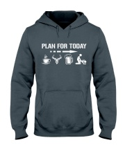 Hunting plan for today Hooded Sweatshirt thumbnail