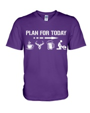 Hunting plan for today V-Neck T-Shirt thumbnail