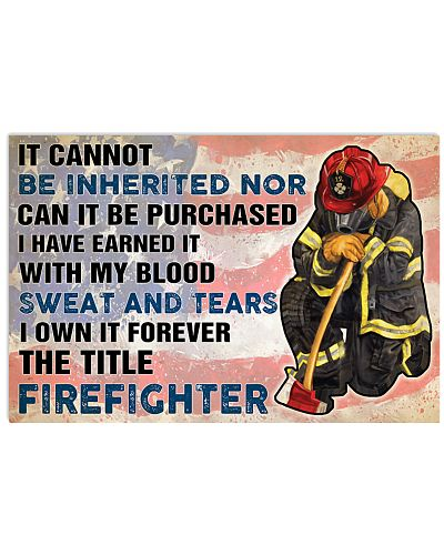 Firefighter It cannot be inherited