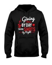 Nurse Shots by day Hooded Sweatshirt thumbnail