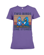 Two Birds One Stoned  Premium Fit Ladies Tee thumbnail