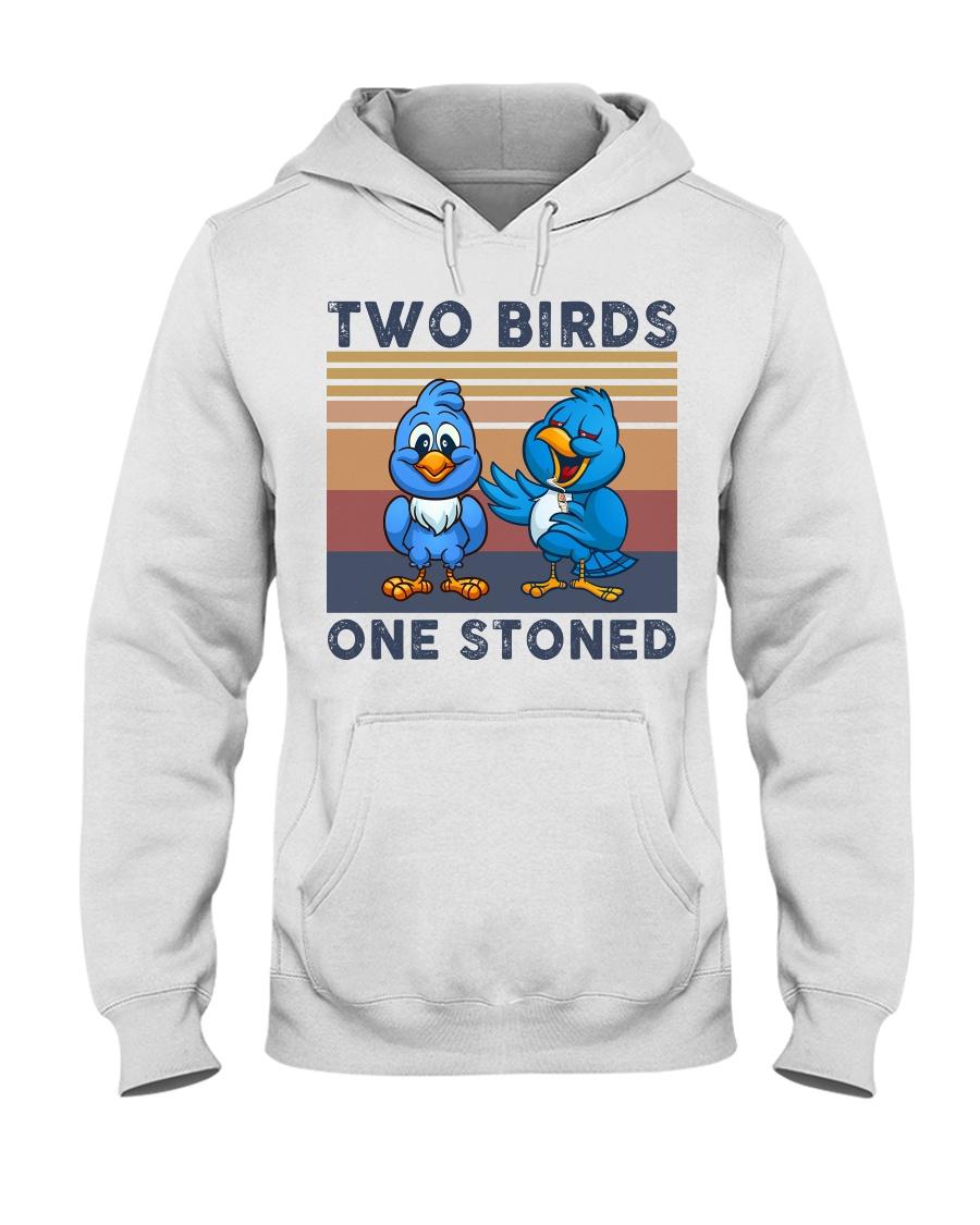 Two Birds One Stoned  Hooded Sweatshirt