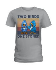 Two Birds One Stoned  Ladies T-Shirt thumbnail