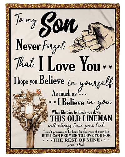 Lineman To my Son