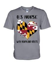 MaryLand Nurse V-Neck T-Shirt thumbnail