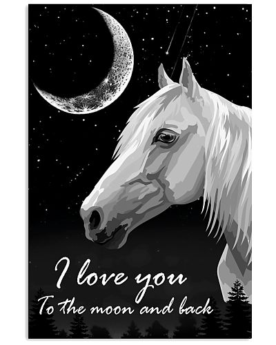 Horse I love you to the moon and back