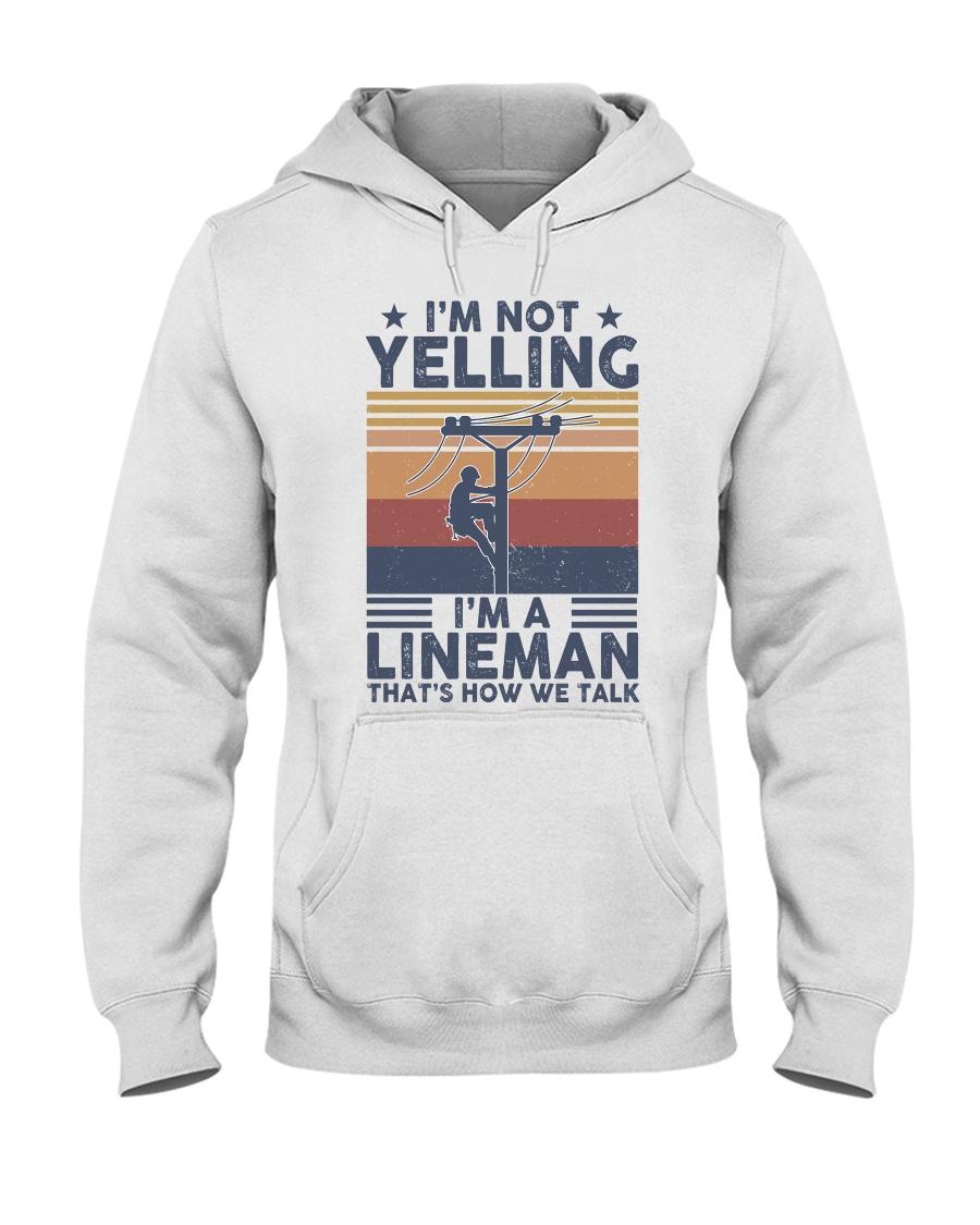 Lineman Yelling Hooded Sweatshirt