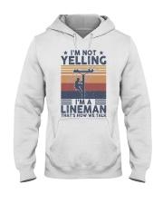 Lineman Yelling Hooded Sweatshirt front