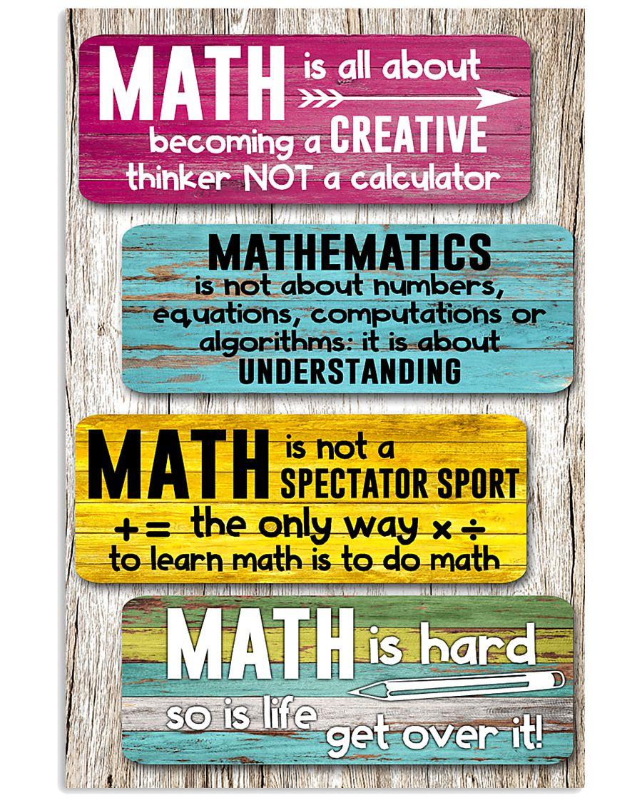 Math Teacher 11x17 Poster