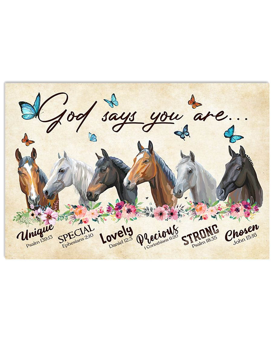 Horse God says you are 36x24 Poster