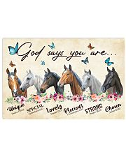 Horse God says you are Horizontal Poster tile