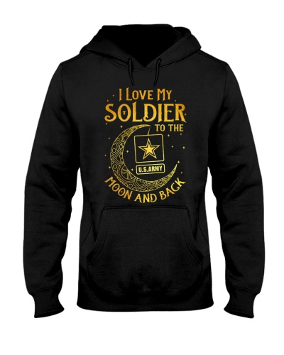 Army - I love my soldier to the moon and back