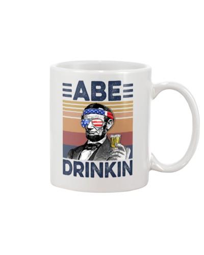 DrinkMugWhite Abe Drinkin