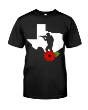 texas Veteran Day  Classic T-Shirt front