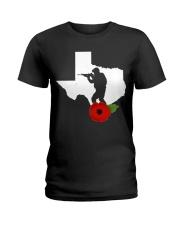 texas Veteran Day  Ladies T-Shirt thumbnail