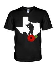 texas Veteran Day  V-Neck T-Shirt thumbnail