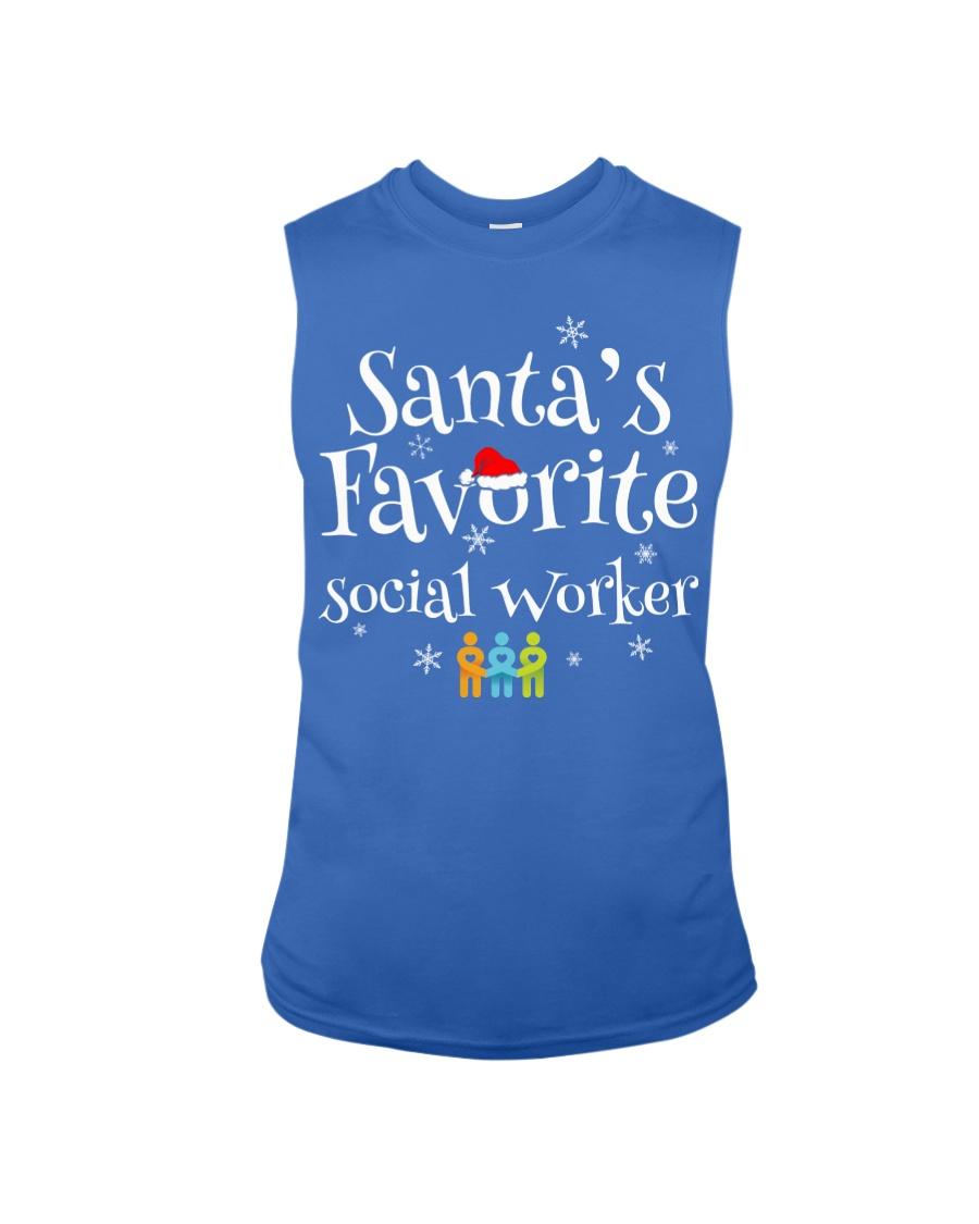 Santa's favorite Social worker  Sleeveless Tee