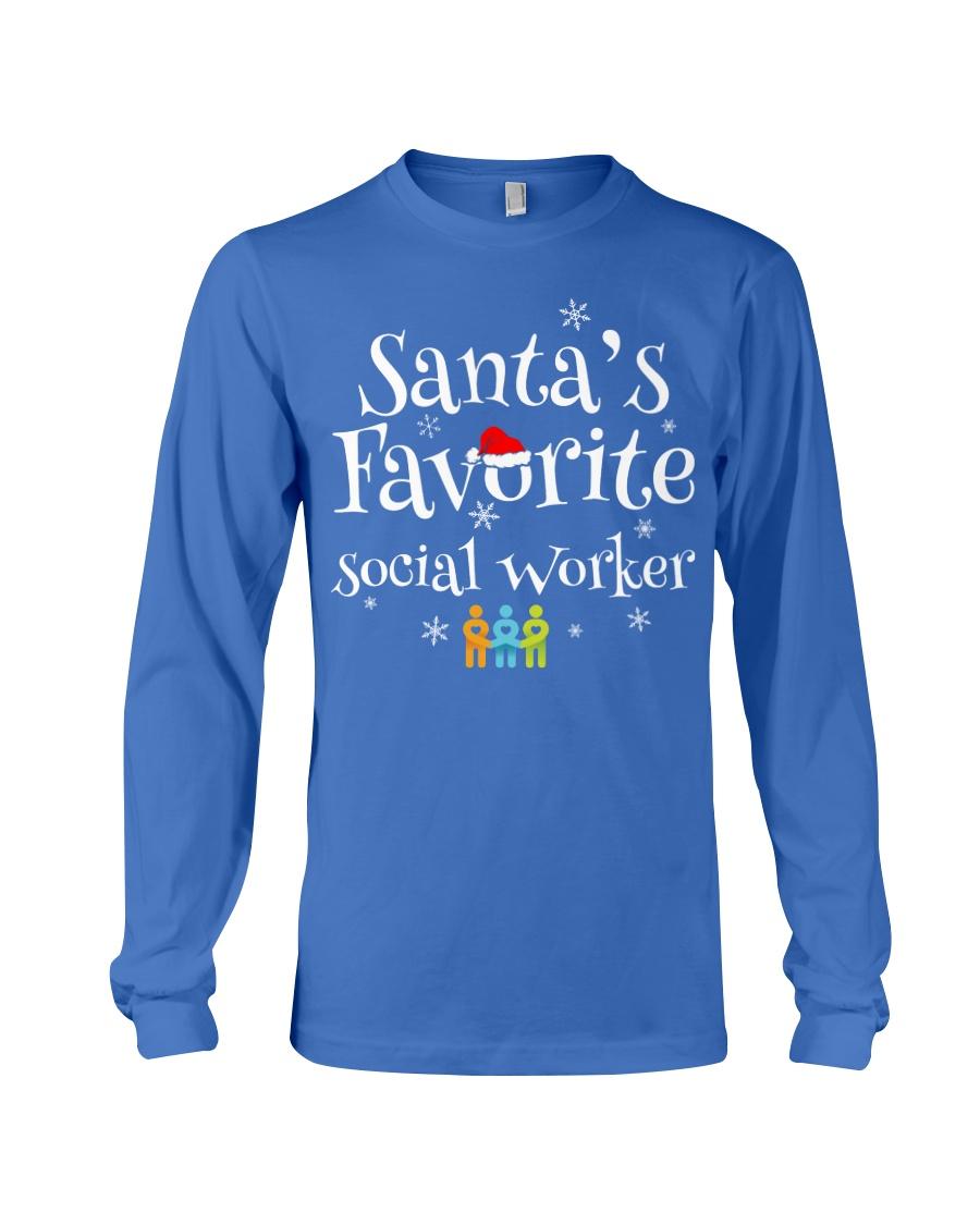 Santa's favorite Social worker  Long Sleeve Tee