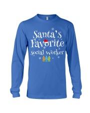 Santa's favorite Social worker  Long Sleeve Tee front