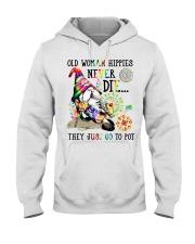 Old woman Hooded Sweatshirt front