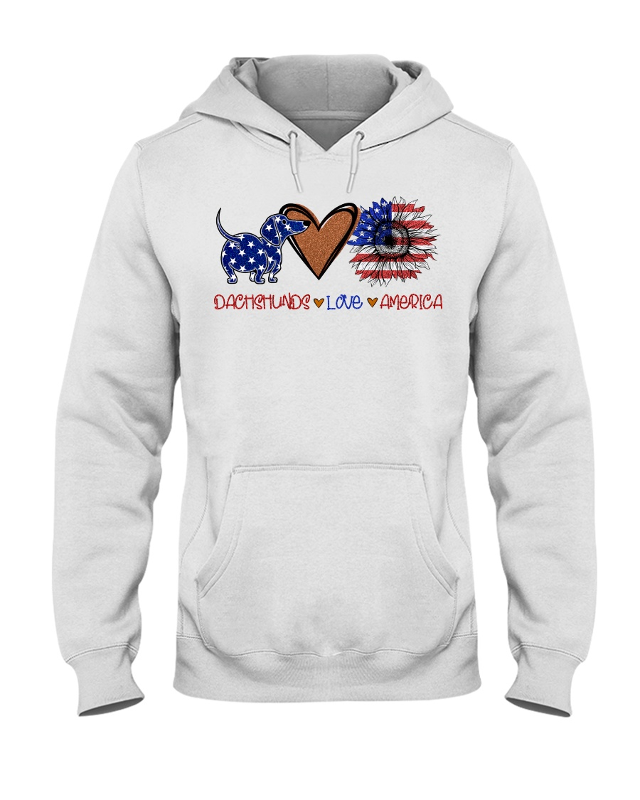 Dachshund America Hooded Sweatshirt