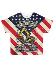 Heavy Equipment Operator  All-over T-Shirt front