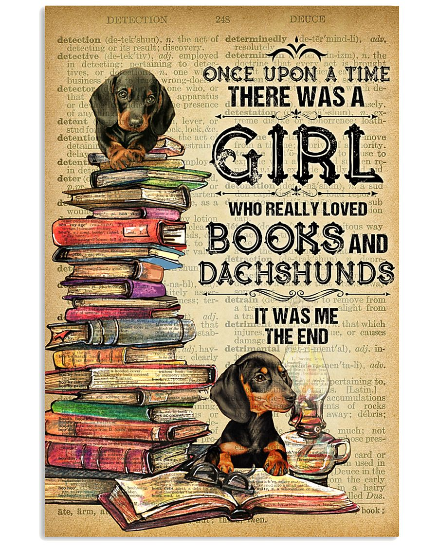 Dachshund And Book 11x17 Poster