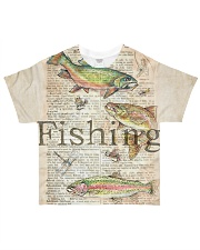 Fishing Vintage All-over T-Shirt front