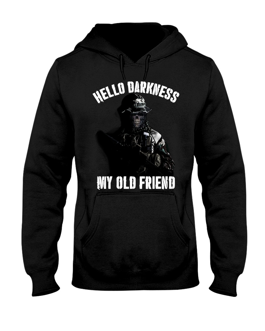 Hello darkness my old veteran friends Hooded Sweatshirt