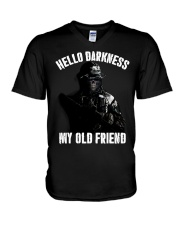 Hello darkness my old veteran friends V-Neck T-Shirt thumbnail