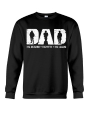 Dad - The Veteran The Myth The Legend  Crewneck Sweatshirt thumbnail