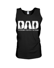 Dad - The Veteran The Myth The Legend  Unisex Tank thumbnail