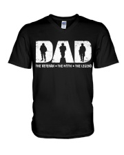 Dad - The Veteran The Myth The Legend  V-Neck T-Shirt thumbnail