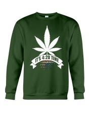 4:20 IS AMERICA'S NEW TIME Crewneck Sweatshirt thumbnail