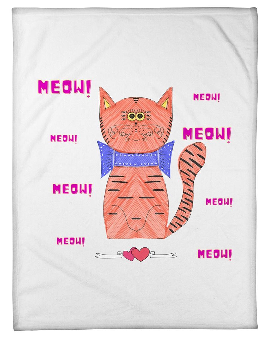 """Meow meow meow Small Fleece Blanket - 30"""" x 40"""""""