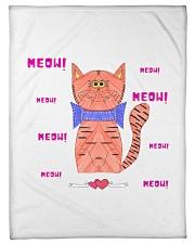 """Meow meow meow Small Fleece Blanket - 30"""" x 40"""" front"""